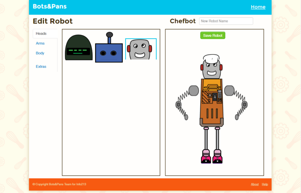 Bots and Pans - Character Customization